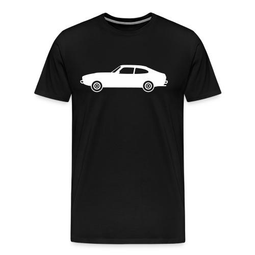 Ford Capri, blanche de profil - T-shirt Premium Homme