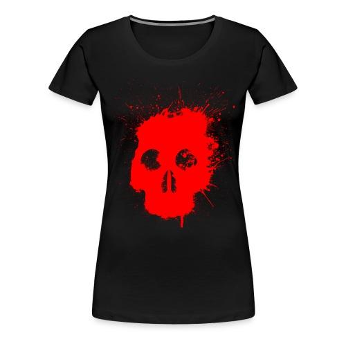 Splatter Skull T Shirt - Women's Premium T-Shirt