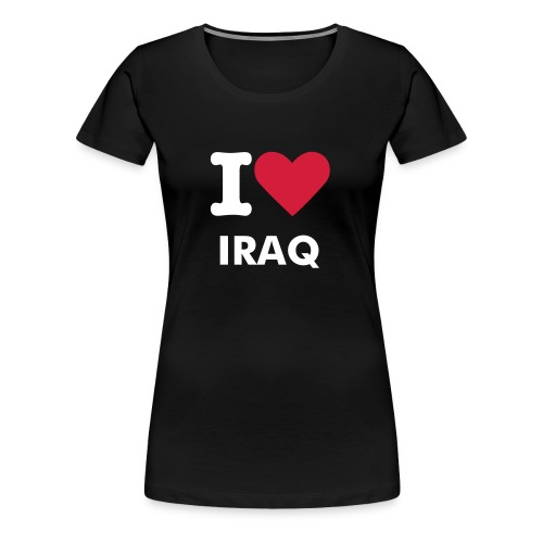 I LOVE IRAQ WOMAN SHIRT - Vrouwen Premium T-shirt