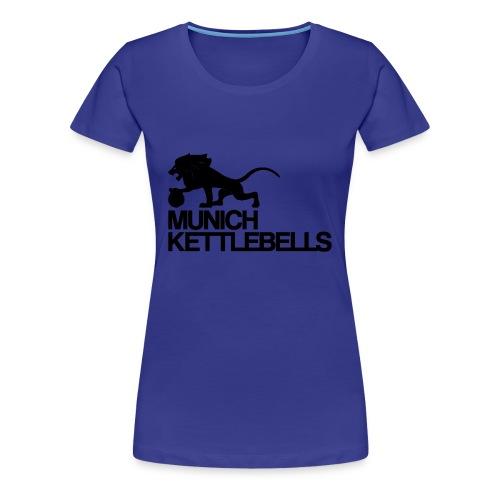Munich Kettlebells Frauen Girlieshirt dunkelblau/ Logo schwarz - Frauen Premium T-Shirt