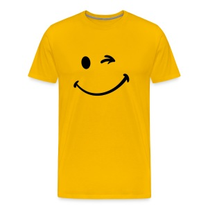 T Shirt Smiley Jaune - T-shirt Premium Homme