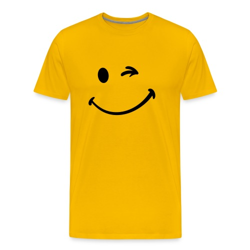 T Shirt Smiley Jaune - T-shirt Premium Homme