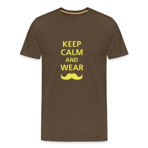 KEEP CALM - BROWN - Camiseta premium hombre