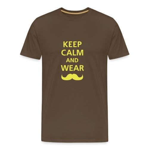 KEEP CALM - BROWN - Camiseta premium hombre