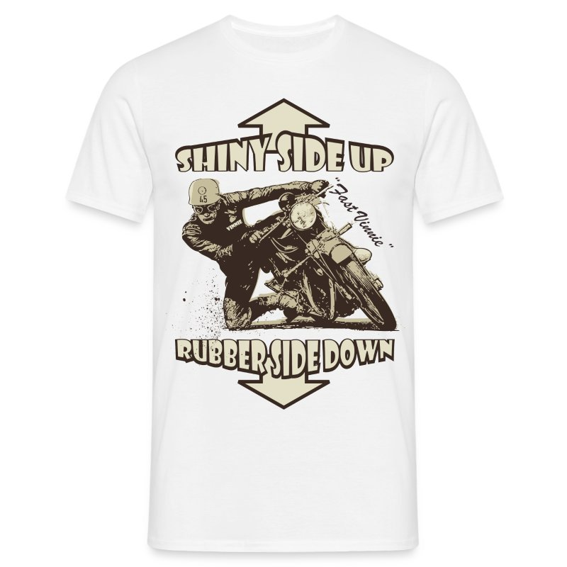 Shiny Side Up biker t-shirt - Men's T-Shirt