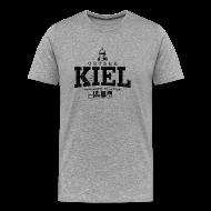 T-Shirts ~ Männer Premium T-Shirt ~ Kiel Ostsee (schwarz oldstyle)
