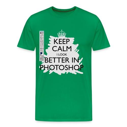 Men's Keep Calm I Look Better In Photoshop Classic T-Shirt - Men's Premium T-Shirt
