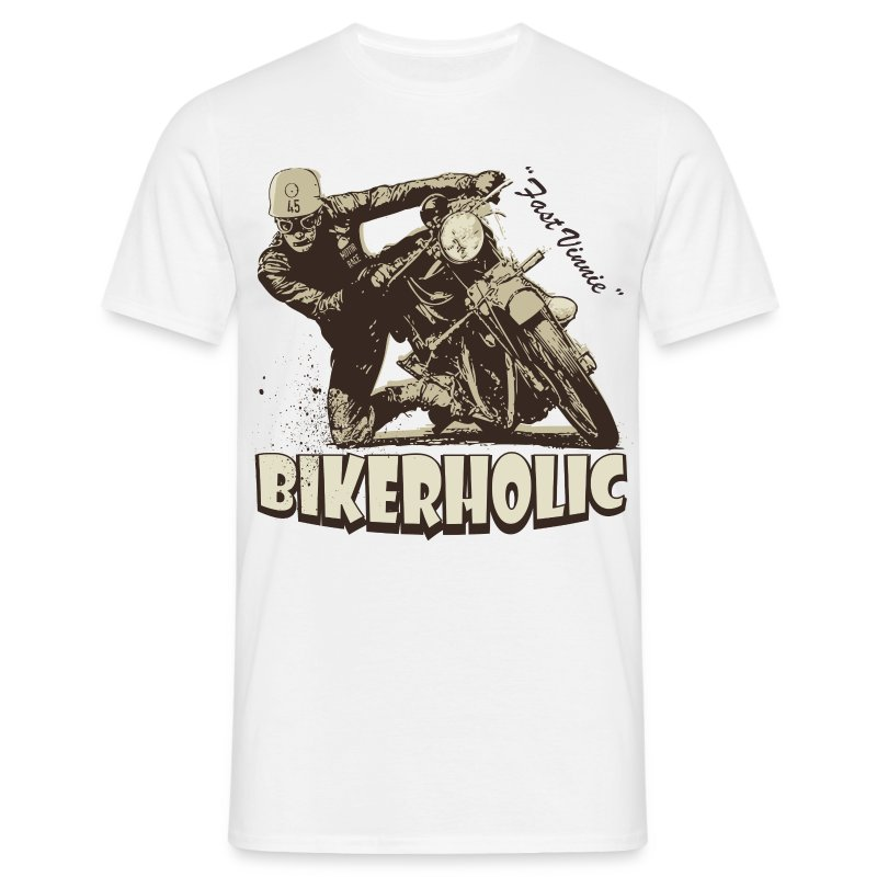 Bikerholic biker t-shirt - Men's T-Shirt