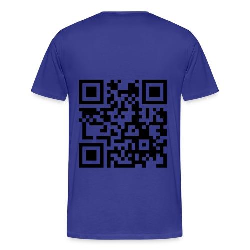 QR Code - Mannen Premium T-shirt