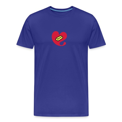 Herz aus Gold - Männer Premium T-Shirt