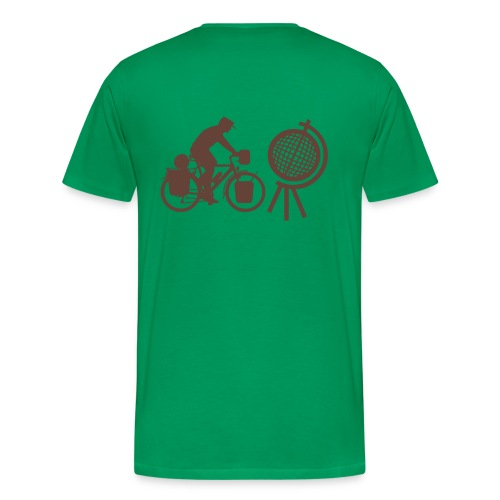 Radreisender mit Globus T-Shirt - Männer Premium T-Shirt