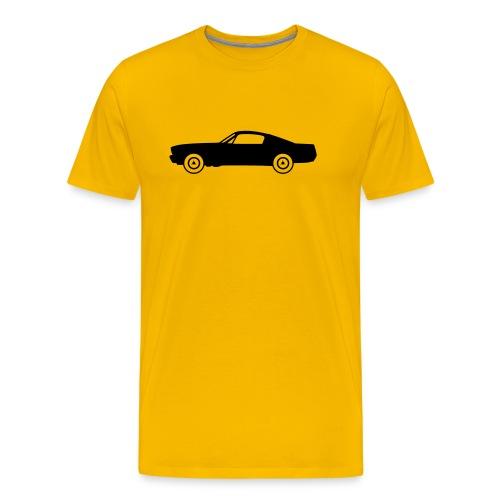 Muscle Car Fastback, noire de profil - T-shirt Premium Homme
