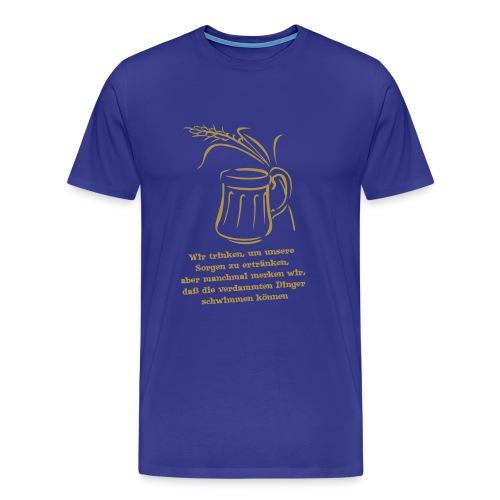 Männershirt Bier ist mein Gemüse - Männer Premium T-Shirt