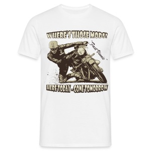 Where's those Mods biker t-shirt - Men's T-Shirt