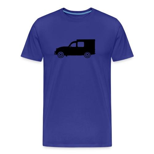 2cv fourgonnette, noire de profil - T-shirt Premium Homme
