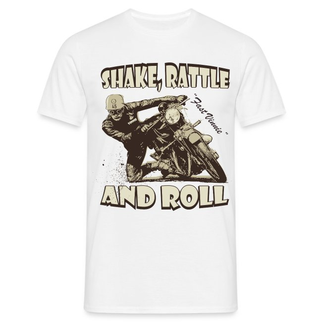 Shake, Rattle & Roll biker t-shirt