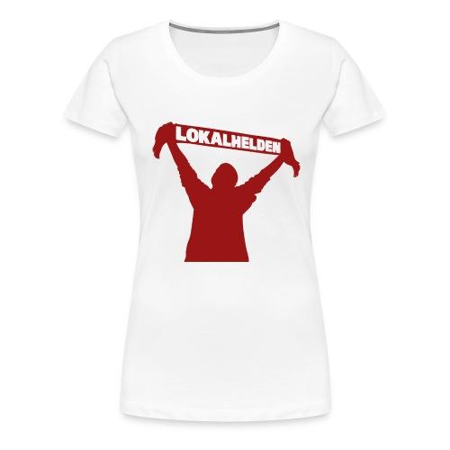 Frauen Shirt Lokalheld mit Schal - Frauen Premium T-Shirt