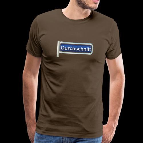 Straßenschild Durchschnitt, Hamburg-Rotherbaum - Männer Premium T-Shirt