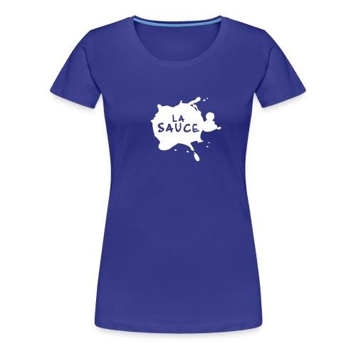 T-Shirt F LASAUCE motif blanc - T-shirt Premium Femme