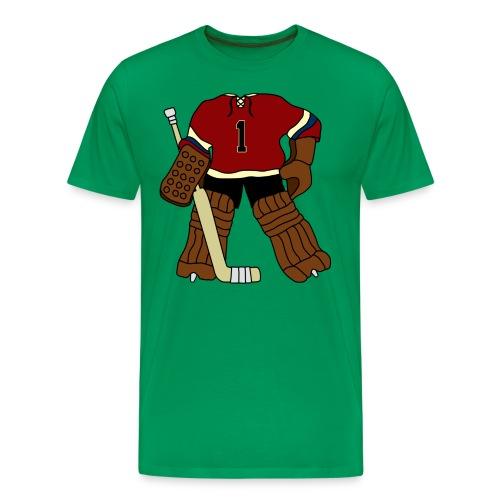 Vintage Ice Hockey Goalie Men's T-Shirt - Men's Premium T-Shirt