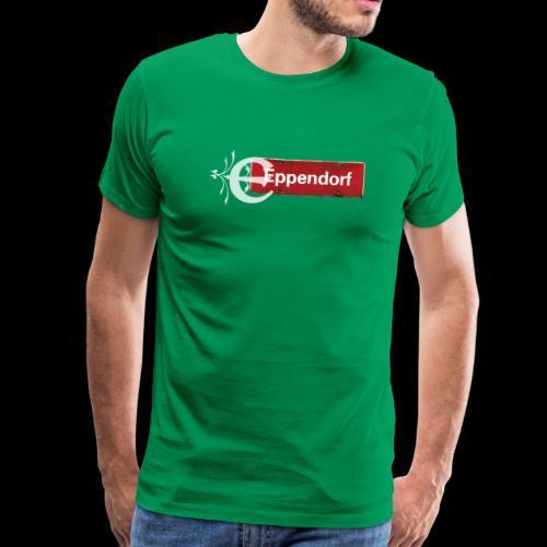 Hamburg-Eppendorf Ortsschild rot mit Schmuckbuchstaben - Männer Premium T-Shirt