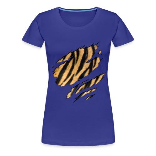 Tiger Shirt divablue - Vrouwen Premium T-shirt