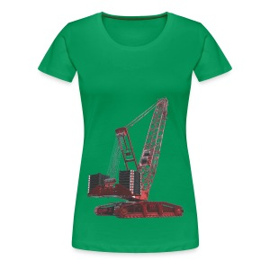 Crawler Crane 750t - Red - Women's Premium T-Shirt