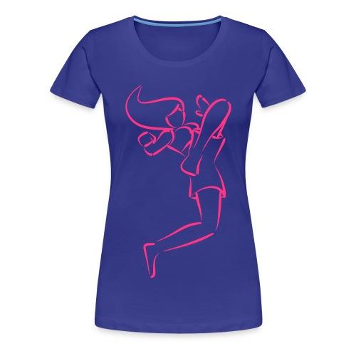 Muay Thai - Flying knee girl - Women's Premium T-Shirt