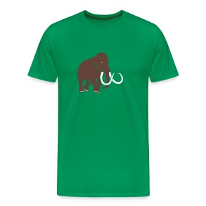tier t-shirt mammut mammoth steinzeit jäger höhle elefant outdoor - Männer Premium T-Shirt
