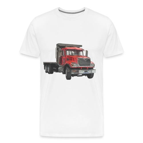 Flatbed Truck 3-axle - Red - Men's Premium T-Shirt