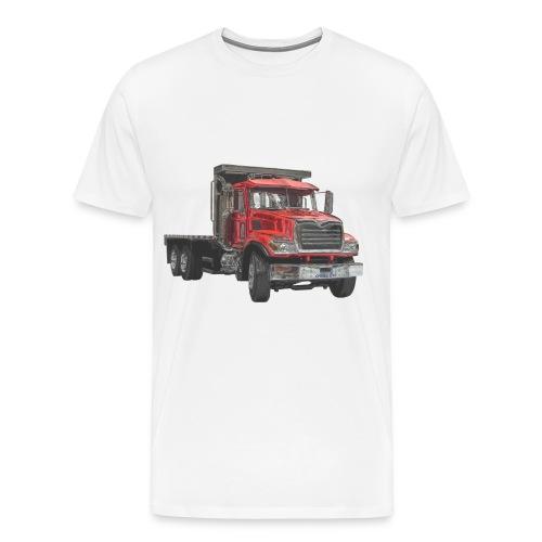 Flatbed Truck 3-axle - Red - Men's Premium T-Shirt