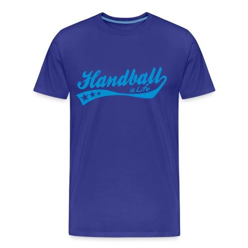 T-shirt - Handball is life (Uden en spiller) - Herre premium T-shirt
