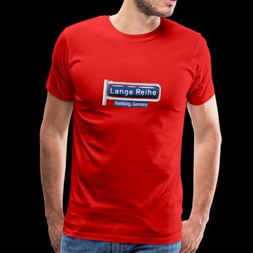 Lange Reihe, altes Straßenschild, Hamburg Germany,  - Männer Premium T-Shirt