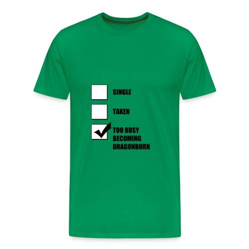 Single/Taken/Dragonborn - Men's Premium T-Shirt