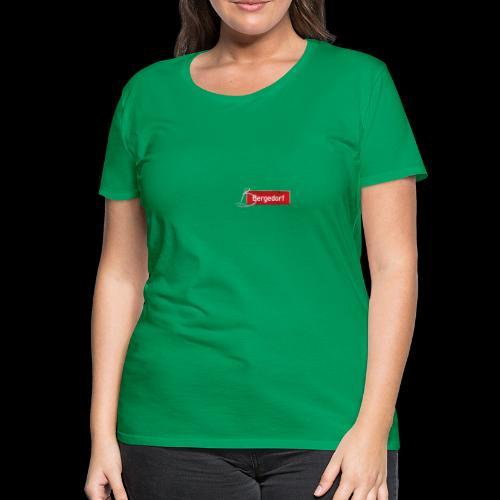Frauen T-Shirt: Hamburg-Bergedorf | Schild mit Tattoo-Initial  - Frauen Premium T-Shirt