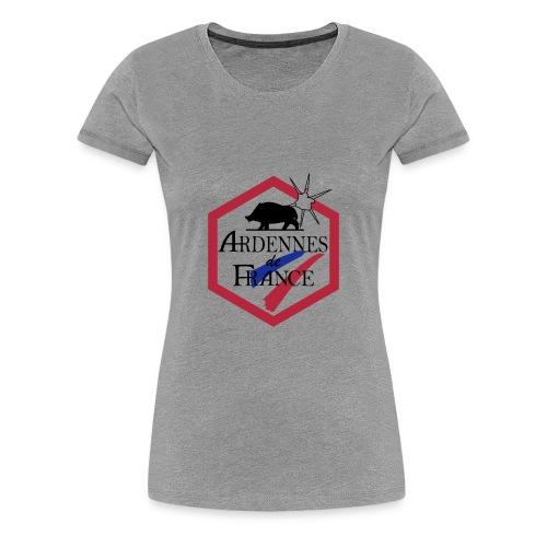 T-shirt Premium Femme - Vêtements de travail réservés aux Adhérents de la marque Ardennes de France