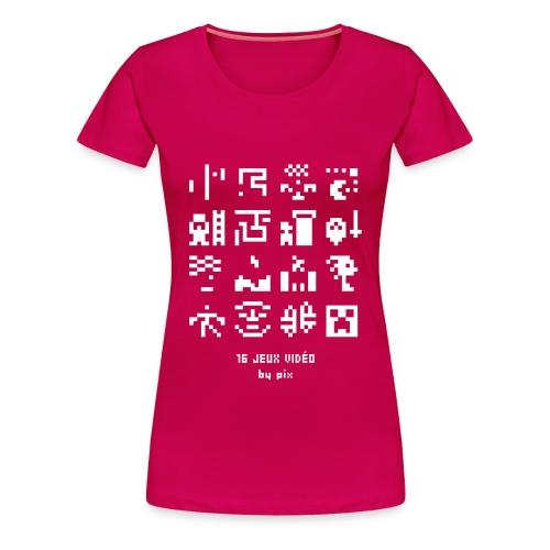 T-shirt-jeu 16·jeux·vidéo - T-shirt Premium Femme