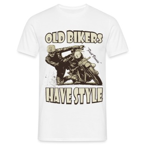 Old Bikers have style - Men's T-Shirt