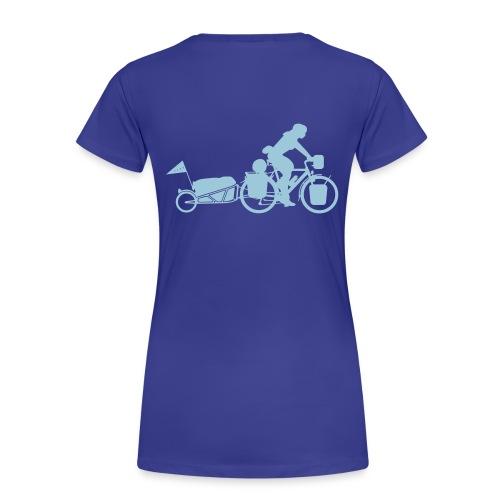 Radreisende mit Anhänger T-Shirt - Frauen Premium T-Shirt