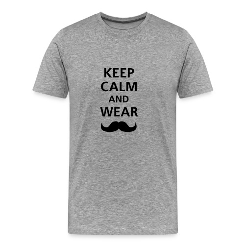 KEEP CALM - GREY - Camiseta premium hombre