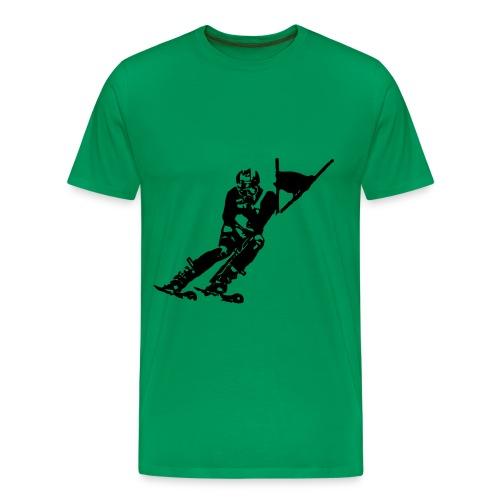 Skieur de descente - T-shirt Premium Homme