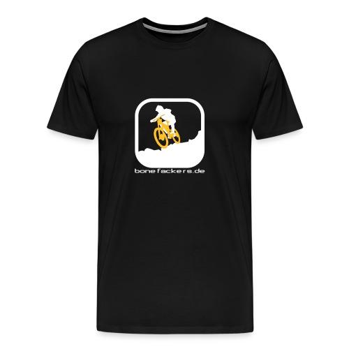 Downhill weiß orange - Männer Premium T-Shirt
