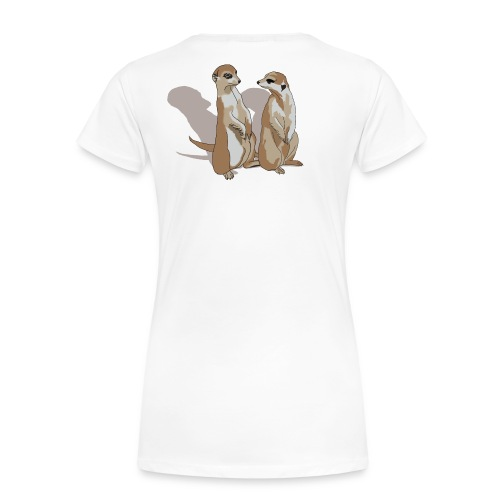 zwei Erdmännchen mit Schatten - Frauen Premium T-Shirt