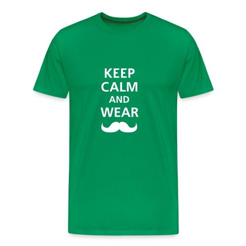 KEEP CALM - DARK GREEN - Camiseta premium hombre