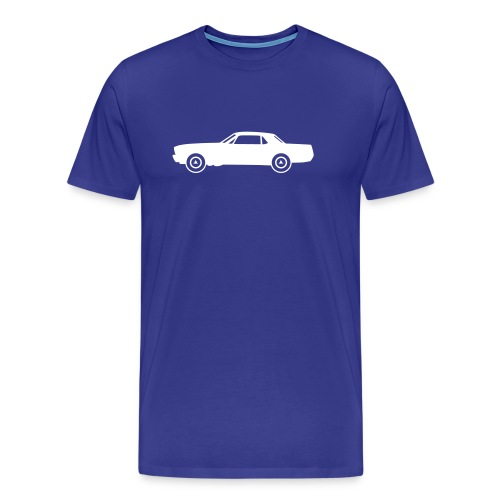 Muscle car coupé, blanche de profil - T-shirt Premium Homme