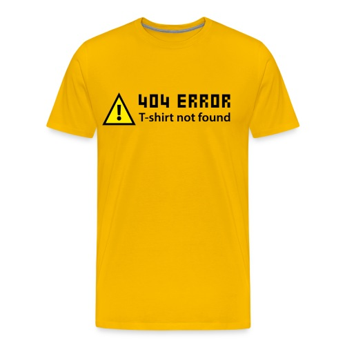 404 Yellow - T-shirt Premium Homme