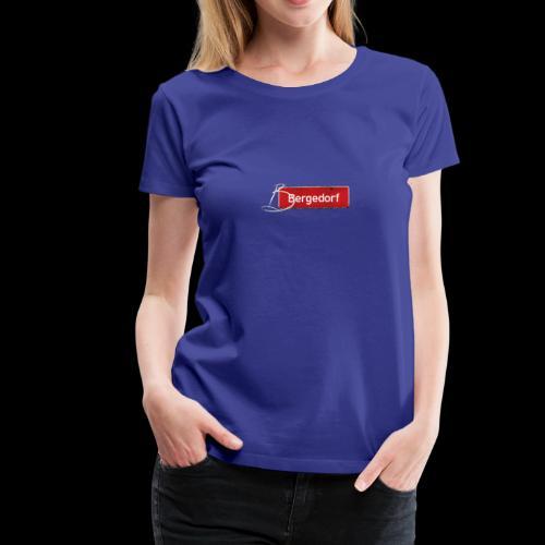 Damen T-Shirt: Hamburg-Bergedorf | Schild mit Tattoo-Initial  - Frauen Premium T-Shirt