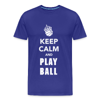Men's Premium T-Shirt with design Keep Calm and Play Basketball