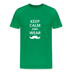 KEEP CALM - GREEN - Camiseta premium hombre