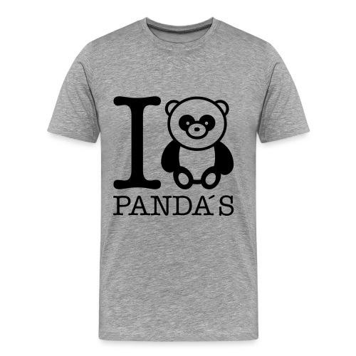 Love PANDAS - Männer Premium T-Shirt